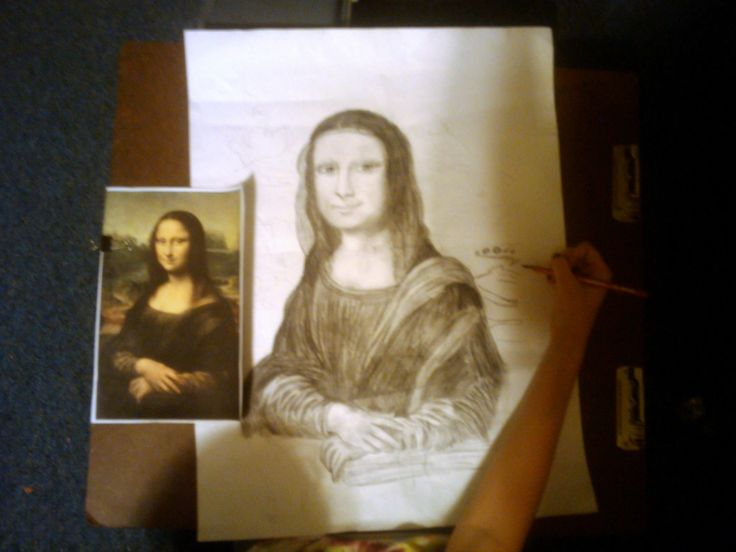 Portrait of Mona Lisa  by Samantha age 15