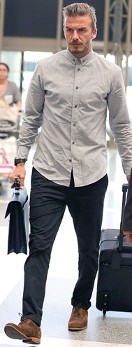 Tokyo Laundry is loving David Beckham's airport style today