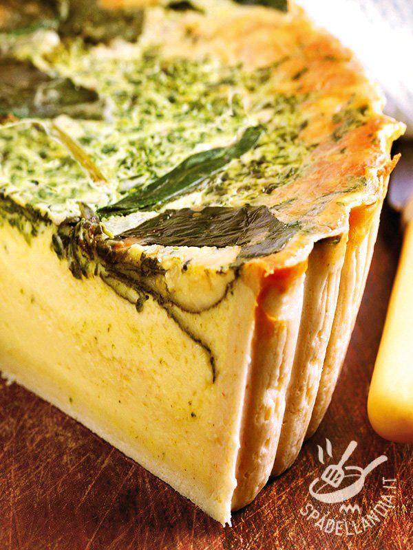 Pie ricotta cheese with herbs - Che bontà questo Tortino di ricotta alle erbe aromatiche: prezzemolo, basilico, cerfoglio e dragoncello per un tripudio di aromi e profumi! #tortinoricotta