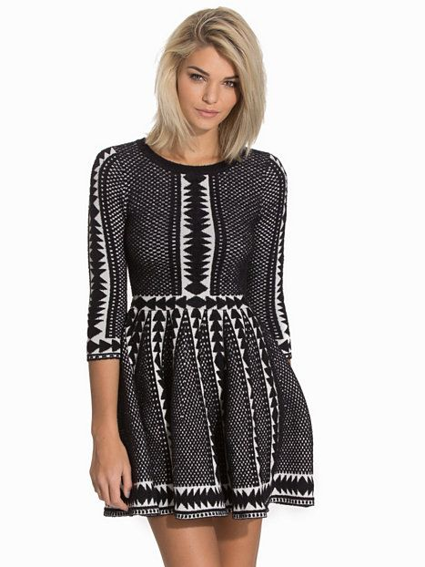 Shoppa Fit And Flare Jumper Dress - Online Hos Nelly.com