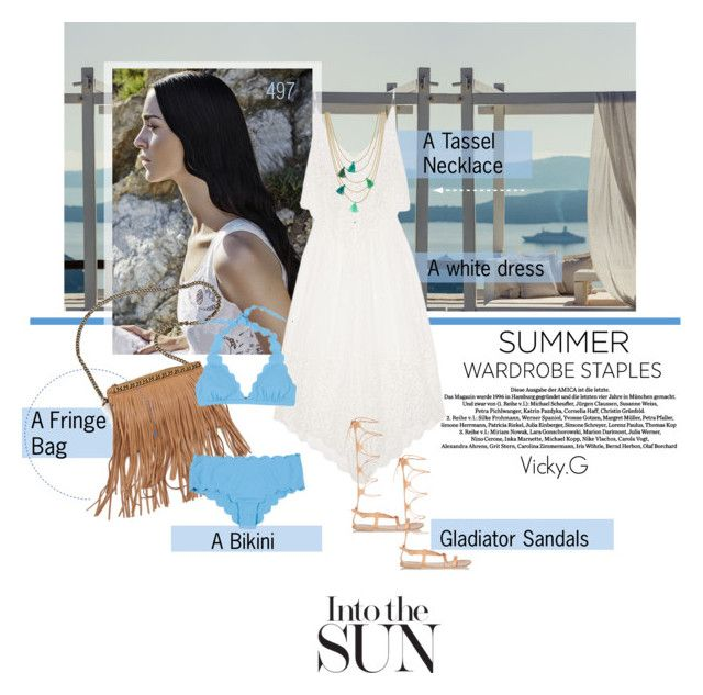 """Set # 497 / Top 5 Summer Staples"" by vassiliki-g on Polyvore"