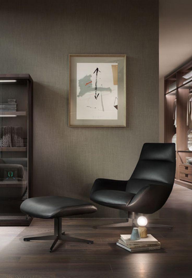 Lady Jane la raffinata e avvolgente bergere dalle linee decise che riecheggiano le forme anni '50 #design #ChristophePillet #Lema #meccanismo #girevole #360 #office #home #rossimobili #botticino