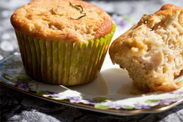 Feijoa & lime muffins -- YUMMY !!!