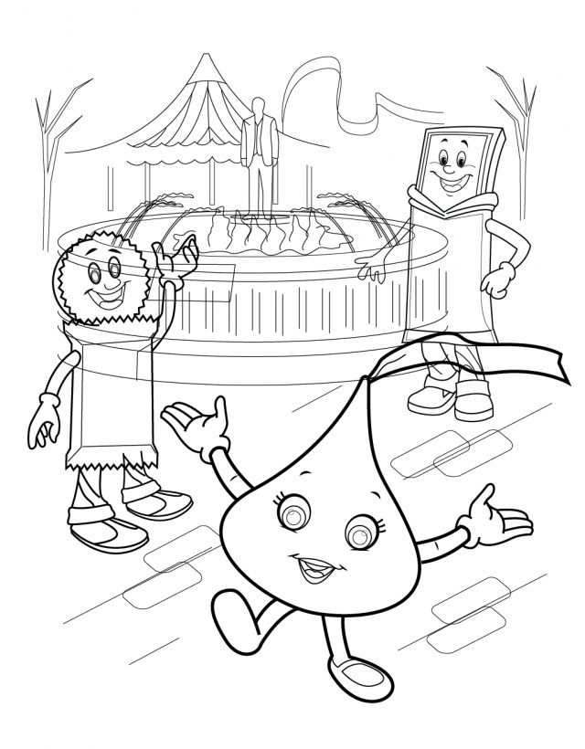 Hershey Kiss Coloring Page Hershey Coloring Pages Bourseauxkamas 640