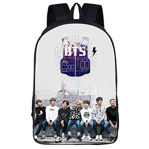 5092f49908db New JUNG KOOK Kpop BTS GOT7 Backpack School Bag Bangtan Boys Messenger Bag  online.   25.99  allfashiondress
