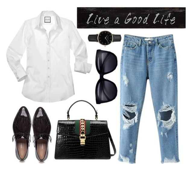 """Just simply white and black"" by emiliamariaa on Polyvore featuring Gucci, Loeffler Randall, ROSEFIELD and blackandwhite"