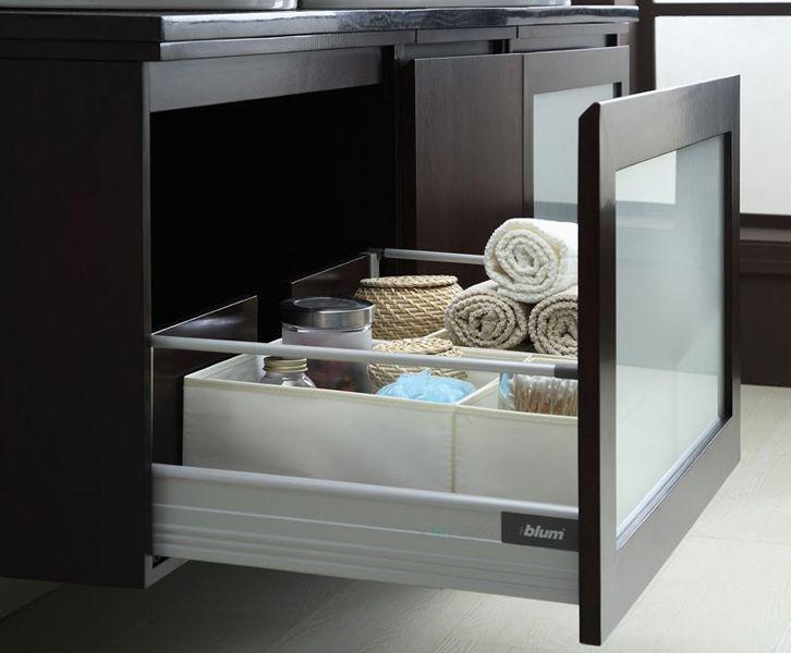 blox vanity drawer in dark walnut wood composite by xylem group xylem