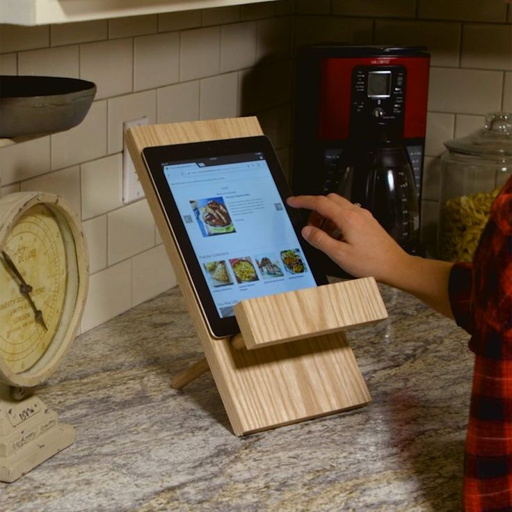 Following online recipes is easier with a tablet stand. Make this one for less than $10 in materials and only a couple of everyday power tools.