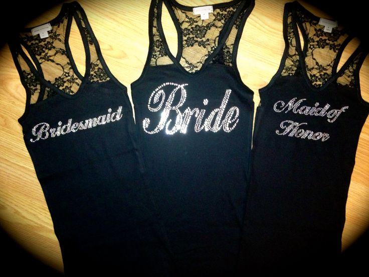 1 Bridesmaid Tank Top. Bridesmaid Bride Maid by MOZtrendMOMMAandME, $13.95