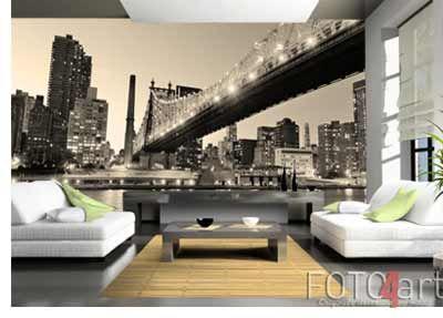 Koop deze Fotobehang New York City nacht panorama