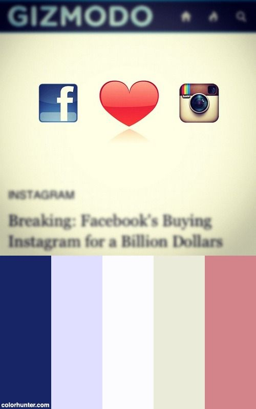 Facebook Buys Instagram! What Are Your Thoughts? Color Scheme