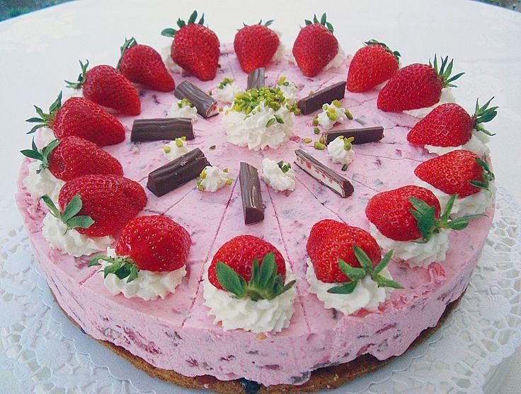 Erdbeer - Quark - Torte mit Joghurette