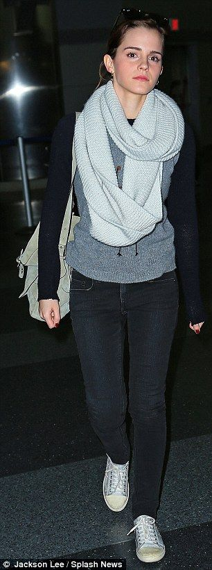 Emma Watson, love the outfit, especially that scarf