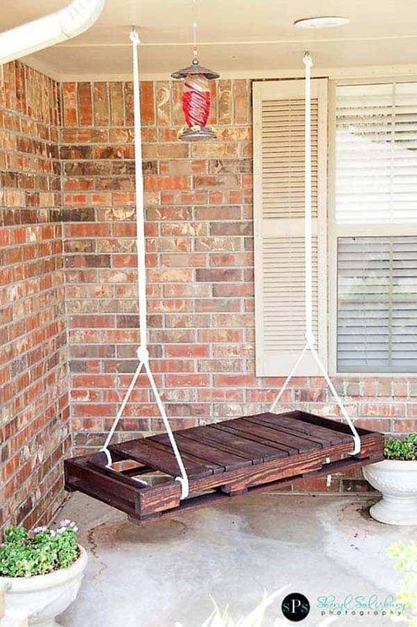 22 Amazingly DIY Patio and Garden Swings