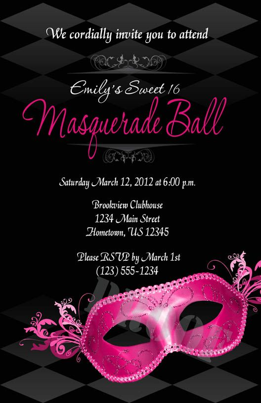 Favorite Masquerade Theme Party Invitations AU28