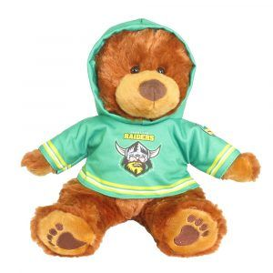 Raiders Plush Toys Supporter t-shirts with hood printed with team colours and logos