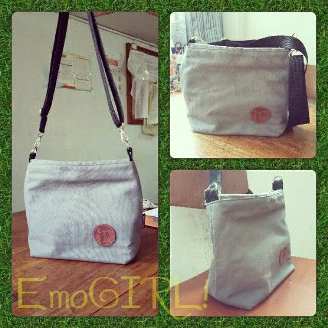 Canvas sling bag - EmoGIRL! Handmade bags and accessories
