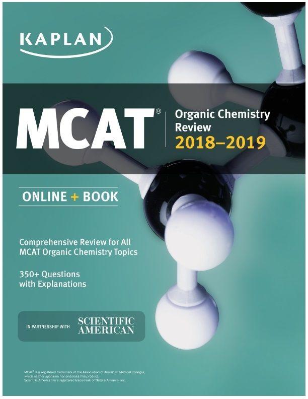 Kaplan S Mcat Organic Chemistry Review 2018 2019 Pdf Chemistry Review Organic Chemistry Mcat