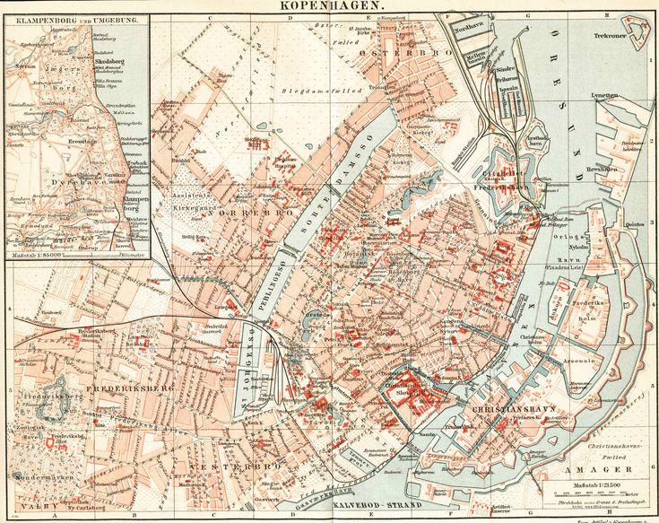 57 best copenhagen images on Pinterest Map of copenhagen - new world map denmark copenhagen