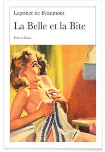La Belle Et La Bite - Fists Et Lettres - Affiche premium