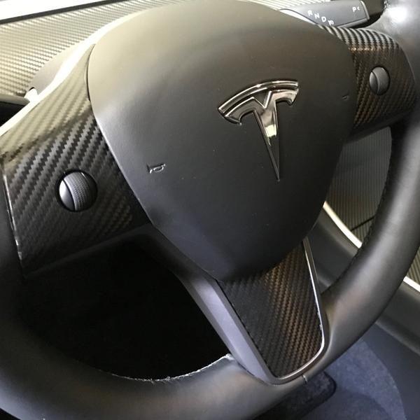 Tesla Model 3 Steering Wheel Decal various color options