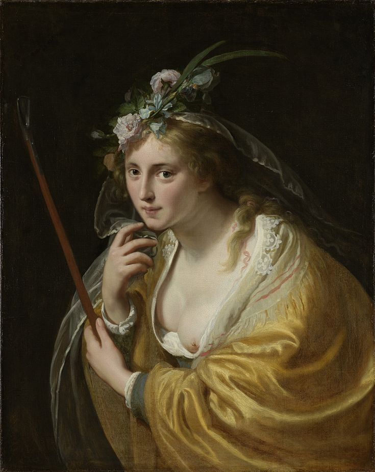 A Shepherdess   Paulus Moreelse   1630   Rijksmuseum   Public Domain