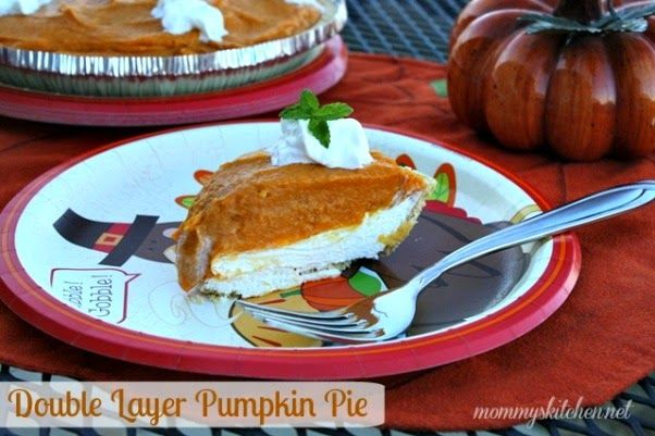 Mommy's Kitchen - Country Cooking & Family Friendly Recipes: Holiday Recipe: No Bake Double Layer Pumpkin Pie