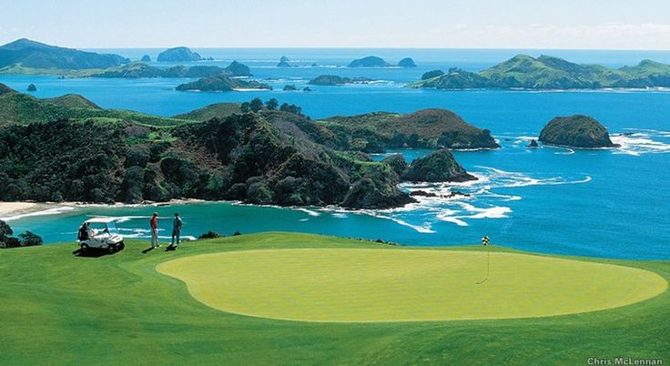 KAURI CLIFFS AT MATAURI BAY, NEW ZEALAND: Six holes on the David Harman-designed course at this five-star resort are played alongside plunging cliffs above the Pacific. (7,119 yards; par 72)