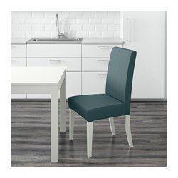 IKEA - HENRIKSDAL, Silla, Gräsbo blanco, -, , Las patas de la silla son de madera maciza, un material natural muy resistente.La funda lavable para la estructura de silla HENRIKSDAL es fácil de poner y de quitar.Gracias al respaldo alto y al asiento con acolchado de poliéster, resulta muy cómodo.