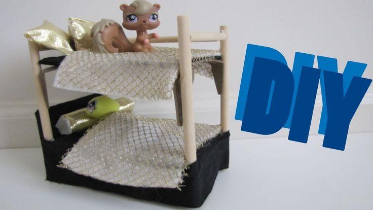 Diy Furniture How To Make A Lps Bunk Bed Littlest Pet