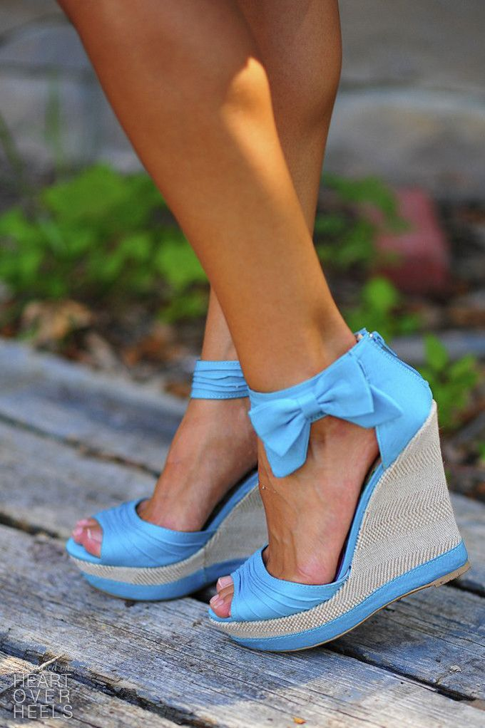 1000  ideas about Blue Wedges on Pinterest | Wedge heels, Wedges ...