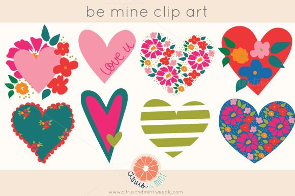 Hearts EPS and PNG Clip Art ~ Illustrations on Creative Market
