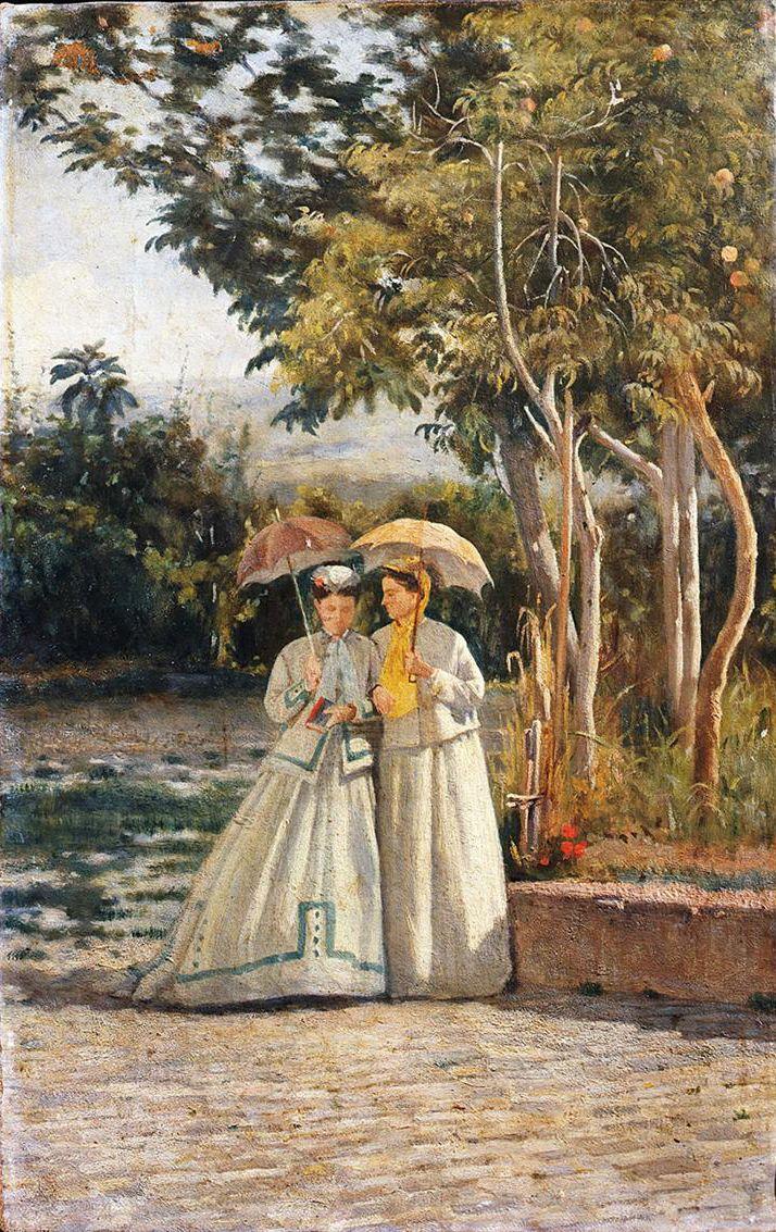 A Walk ~ Silvestro Lega ~ (Italian: 1826-1895)