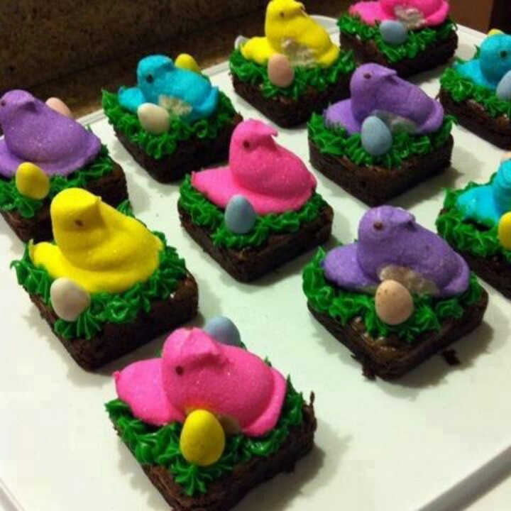 Decorating Idea For Brownies Easter ⊱╮ Pinterest