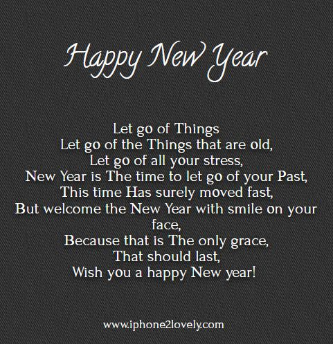 English poem for new year