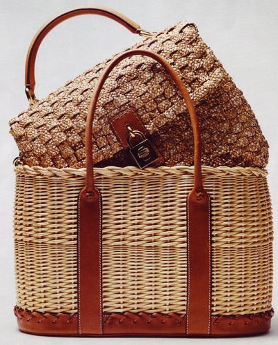 Dolce & Gabbana Wicker and Raffia Bags. Photo Courtesy of: Bazaar UK