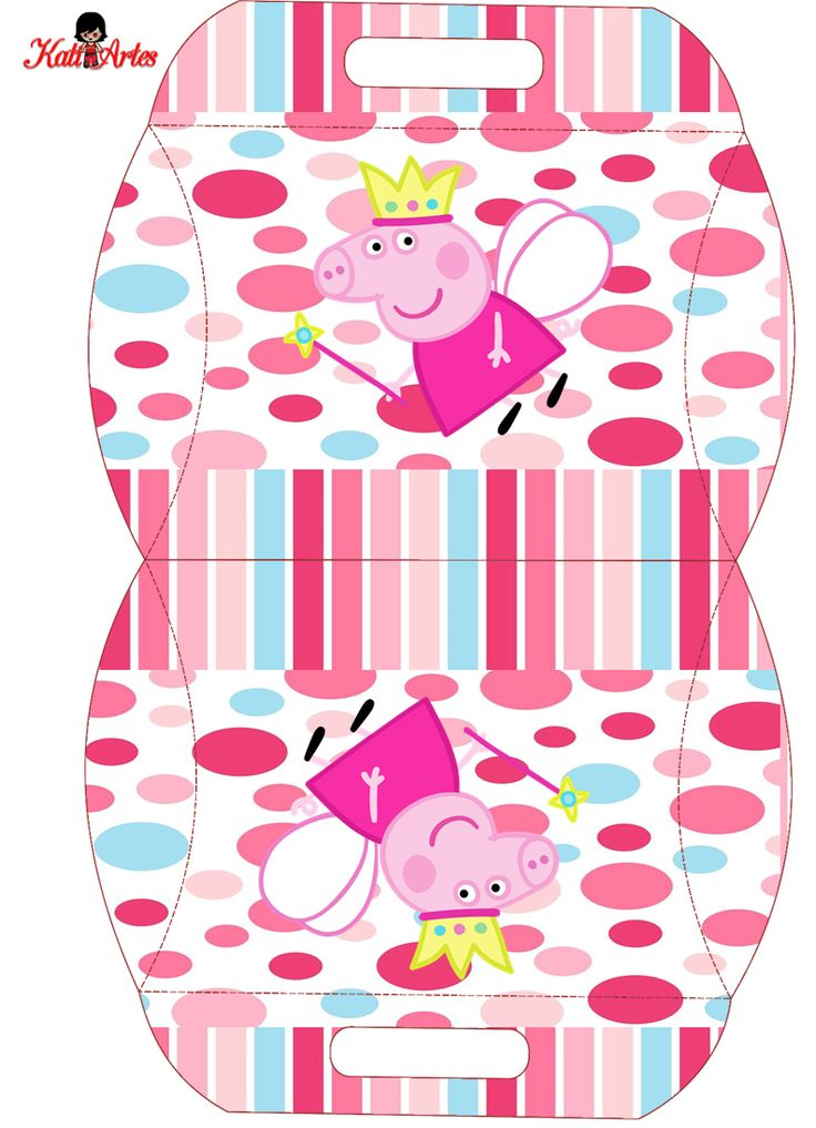 Peppa Pig Hada: Caja Almohada para Imprimir Gratis.