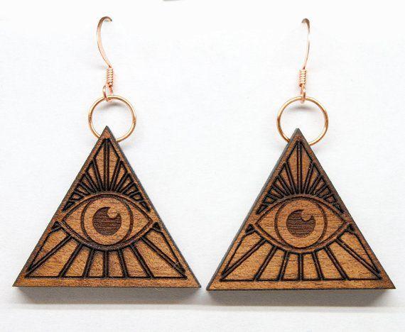 pair. All seeing eye earrings