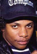 Rapper Eazy-E who was part of the NWA rap group. Jason Mitchell portrays Eazy-E in the Straight Outta Compton movie. See more pics here: http://www.historyvshollywood.com/reelfaces/straight-outta-compton/