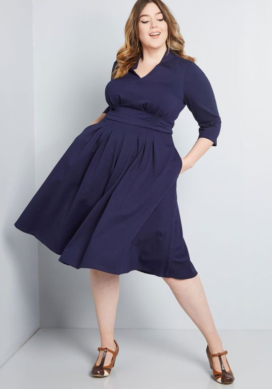 Structured Swing Ponte Knit Dress in 2019 | Wool dress | Dresses ...