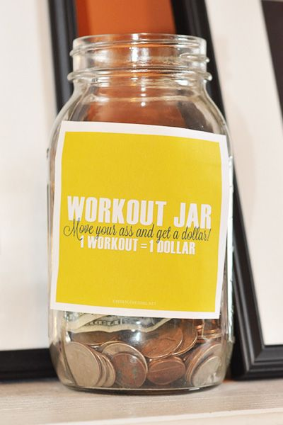 workout tip jar diy