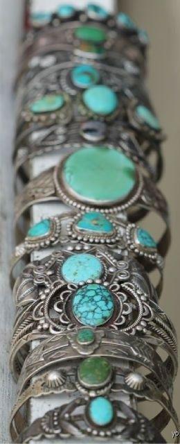 old turquoise bracelets