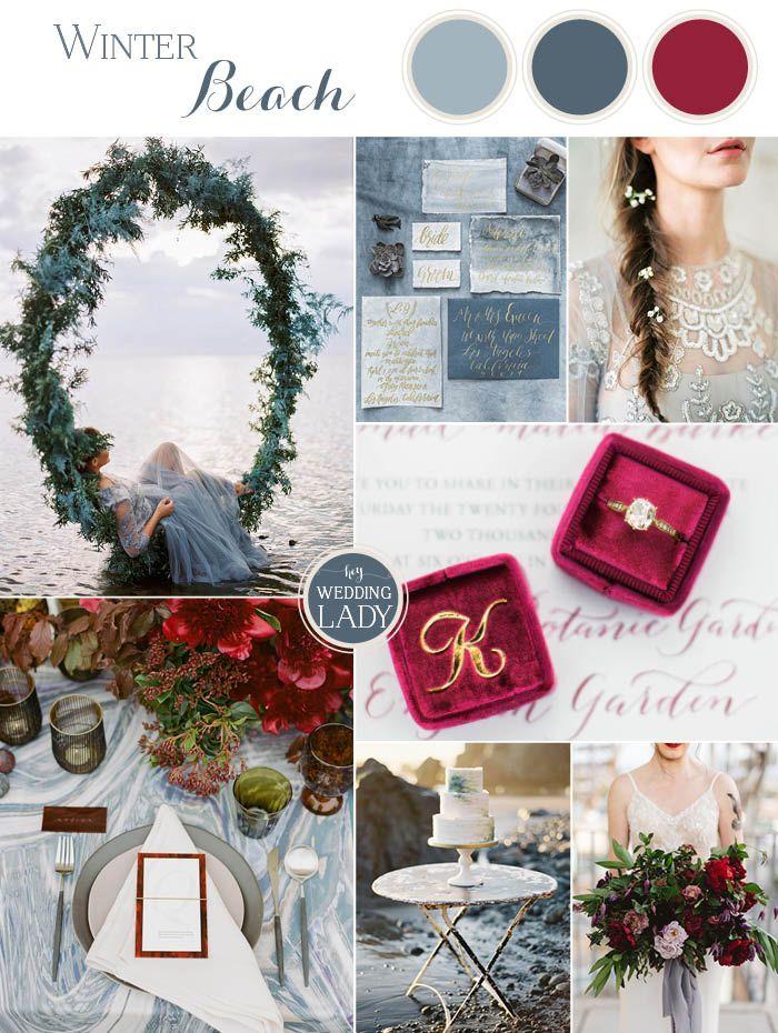 Winter Beach Wedding Ideas In Frost Blue