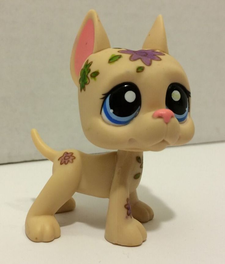 littlest pet shop rare great dane dog puppy mini deco no flowers lps my favorite lps. Black Bedroom Furniture Sets. Home Design Ideas