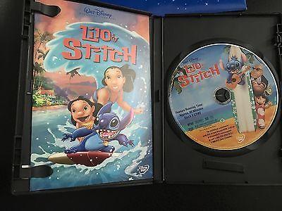Lilo and Stitch DVD Walt Disney Animated Movie 2002 Family Kids Pets Love