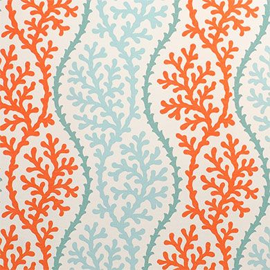 """P/Kaufmann Outdoor Coral Splendor Coral 54"""" Fabric -- Sold by the Yard"""