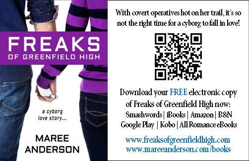 DIY book business cards: Download Freaks of Greenfield High (Freaks #1) FREE!