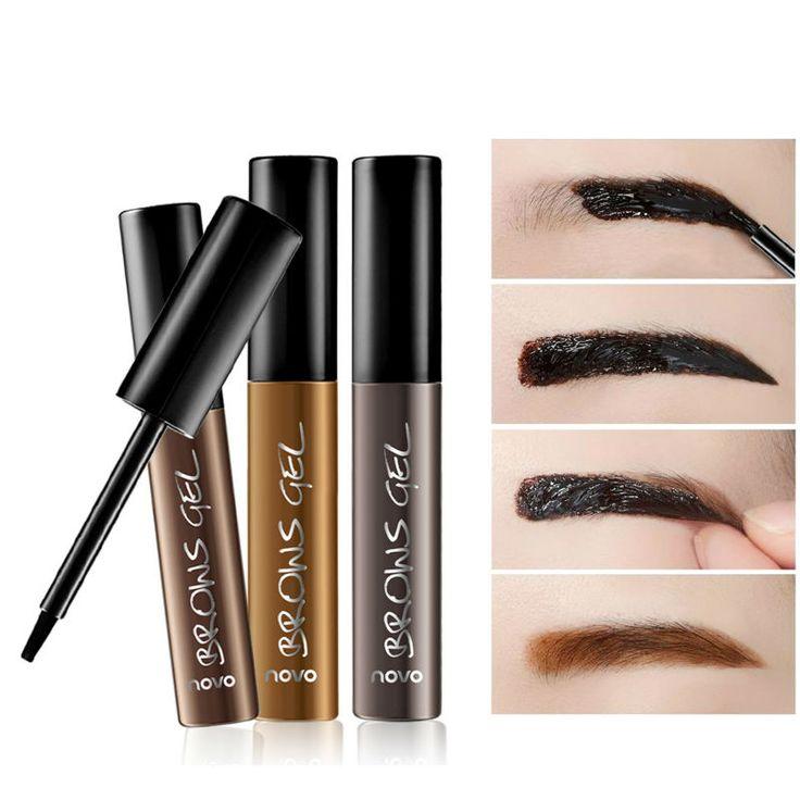 引き裂きタイプ眉毛クリーム3色防水染料眉マスカラクリームアイ眉ゲルキットメイクアップ作るそれ自然/厚い