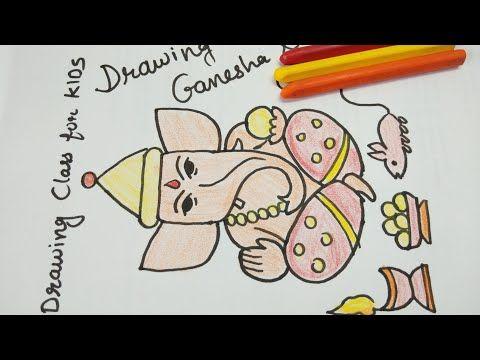 Youtube Best Ganpati Drawing Color Video Youtube Ganpati Drawings