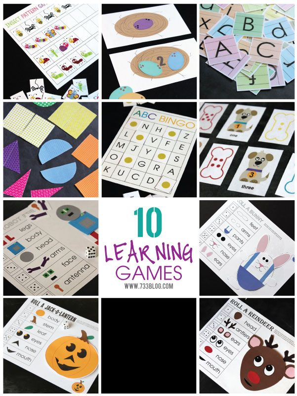 Printable Learning Games - 35 Pages of fun activities for young kids!
